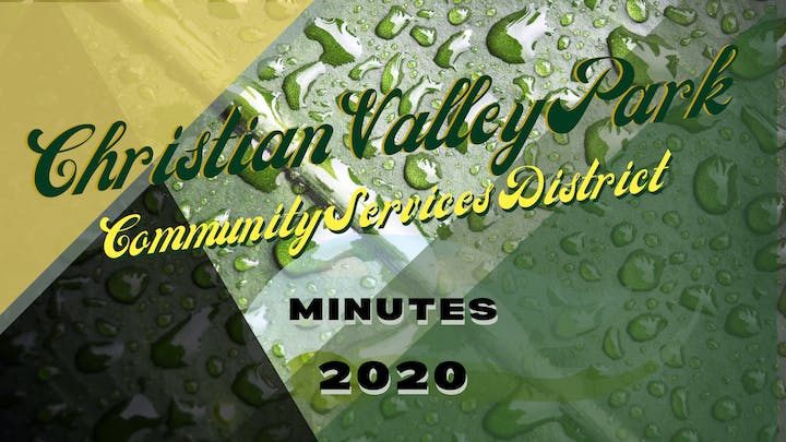 Christian Valley Park CSD MINUTES 2020 Graphic