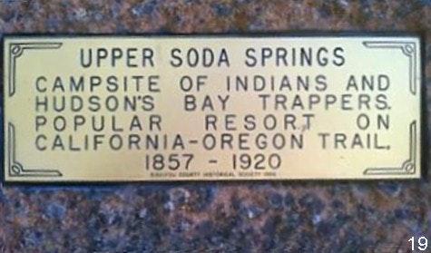 Tauhindauli Park Soda Springs plaque on rock