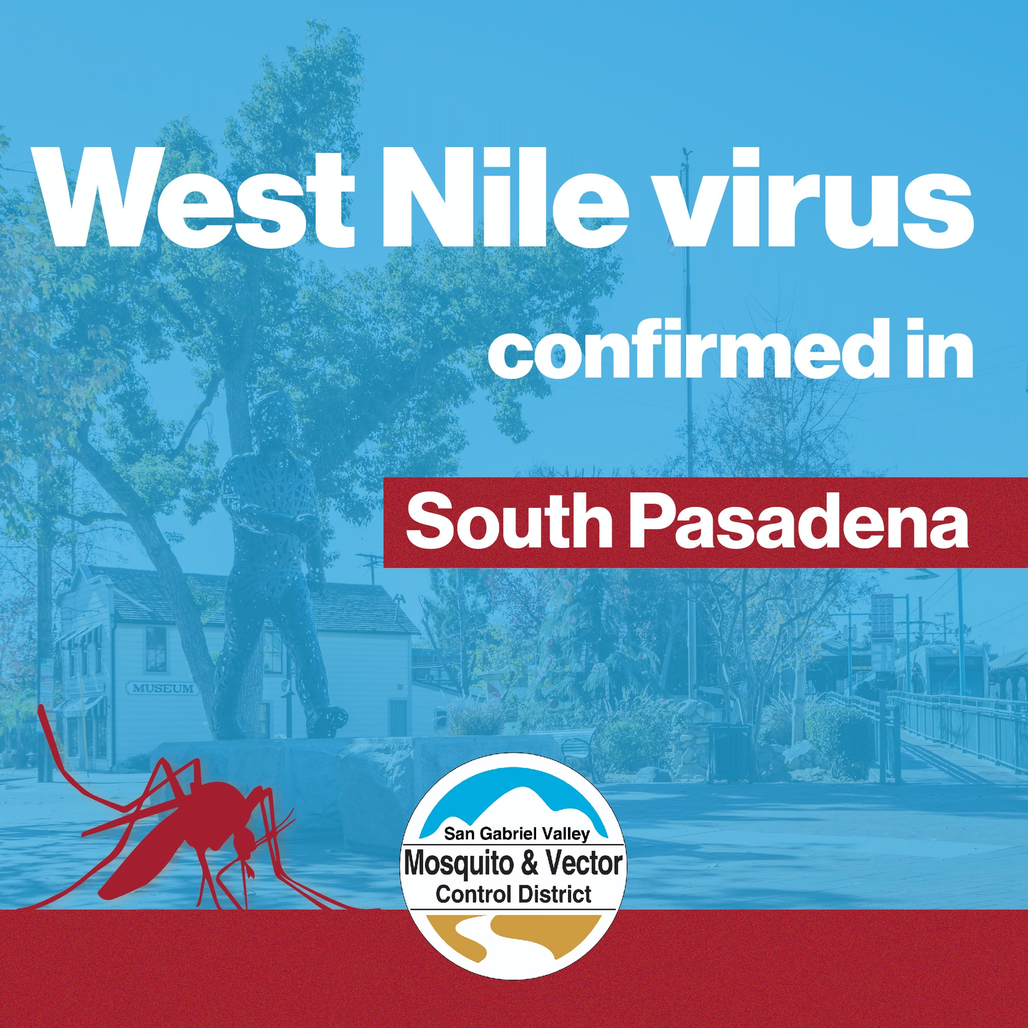 West Nile virus alert banner for South Pasadena