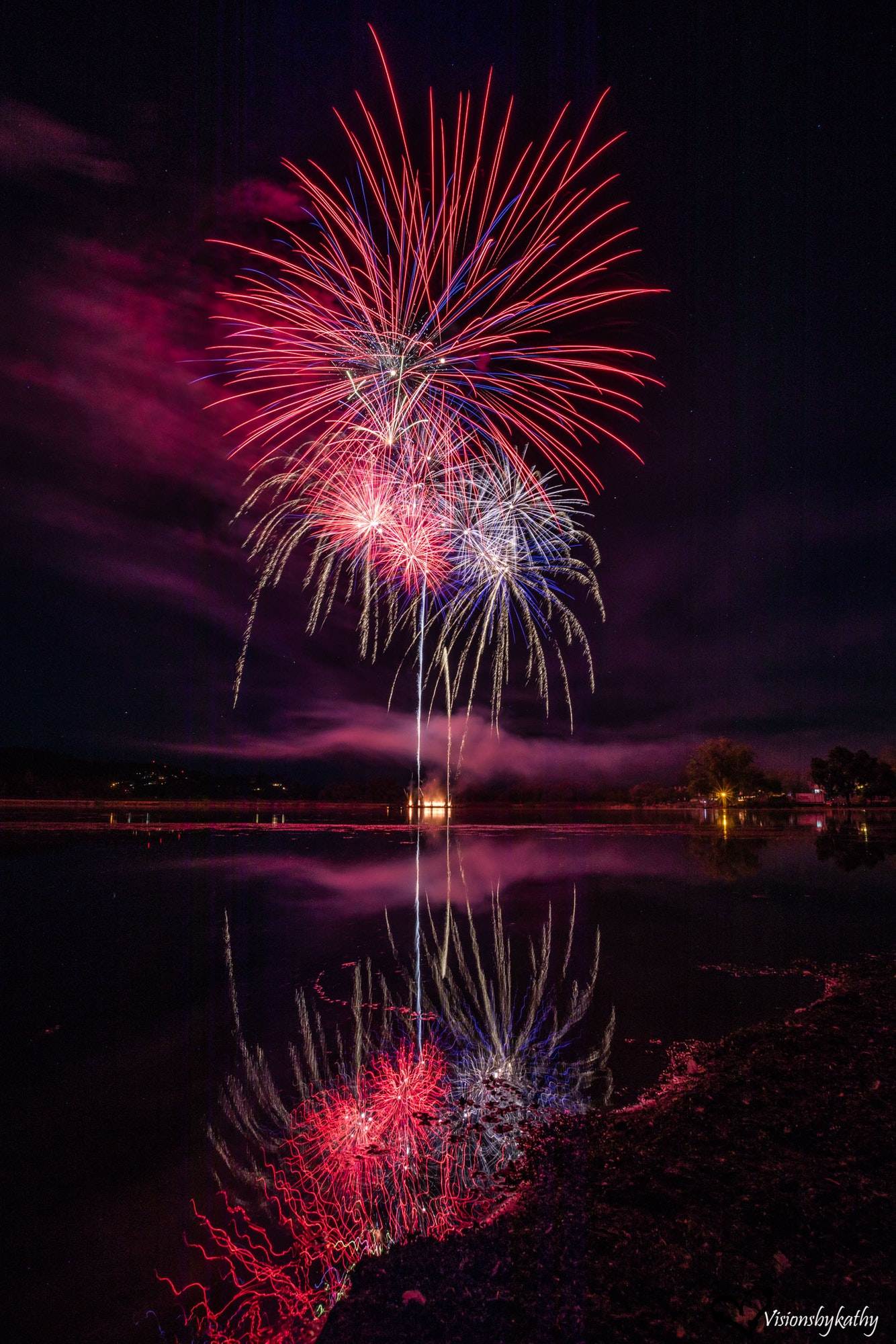 May contain: nature, outdoors, night, and fireworks